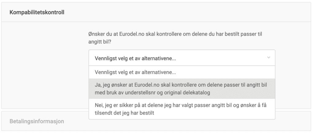 Kassen hos Eurodel