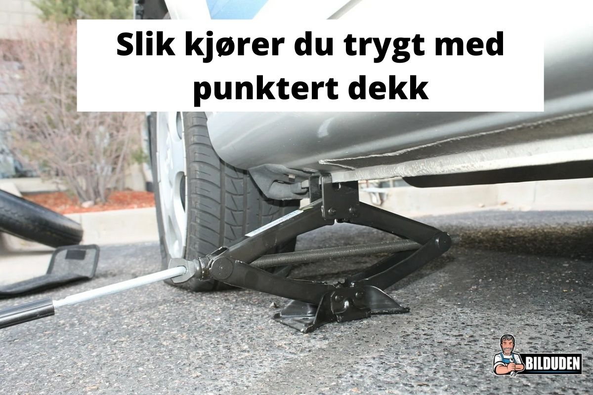 Kjøre med punktert dekk: Slik gjør du det trygt!